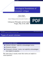 "Slides ""Social ontological foundations of immanent critique"""