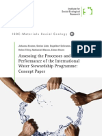Assessing the Processes and Performance of the International Water Stewardship Programme