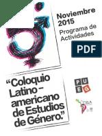 Quinto Coloquio Latinoamericano de Estudios de Género