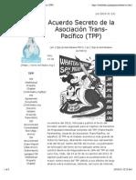 Acuerdo Secreto de La Asociación Trans-Pacífico (TPP)