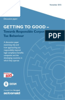 Getting to Good: Towards responsible corporate tax behaviour