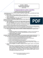 Cómo Se Hace Una Traducción de Latín a Español