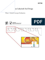 EPRI Advanced Steam Labyrinth Seal Design