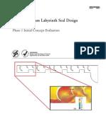 EPRI Advanced Steam Labyrinth Seal Design