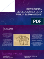 BIOGEOGRAFia de ELEFANTES