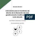 2012 Inf Monitoreo Liberacion Maiz