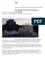 Diplomats Accuse Britain of 'Kowtowing' to Secure Hinkley Backing - FT