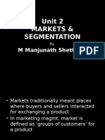 Markets & Segmentation - Class5