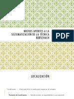 Nuevos Aportes a La Sistematización de La Técnica Rorschach.