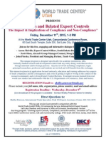 Salt Lake City-December 11-Academia... Export Compliance