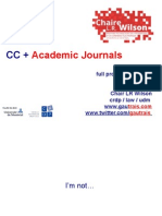 CC and Journals