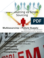 Multiple Sourcing vs Single Sourcing