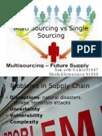 Multiple Sourcing vs Single Sourcing