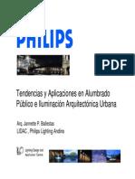 Tendencias y Aplicaciones en Alumbrado Público e Iluminación Arquitectónica Urbana
