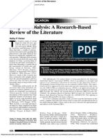 Sleep and Dialysis a Research-based Review of the Literature