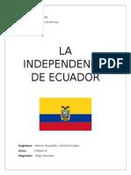 Independecia de Ecuador