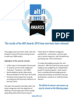 2015 AltFi Awards Results