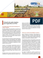 Cambio climático y la seguridad alimentaria - BOLETÍN N° 3