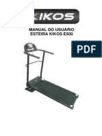 Esteira Kikos E500 - Motor de 2 HPM - Bivolt