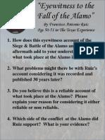 eyewitness to the fall of the alamo