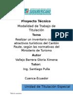 Proyecto Técnico Turismo Paute