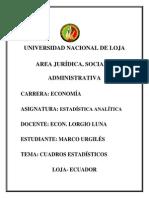 Análisis Estadística Marco