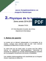 A2 - CCIN - Chapitre 2 - Physique de La Lumiere