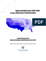 US Latino Religious Identification 1990-2008