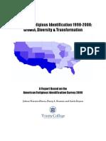 US Latino Religious Identification 1990-2008