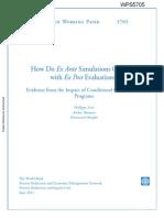 Leite Et Al 2011 How Do Ex Ante Simulations Compare With Ex Post Evaluations