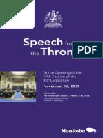 Throne Speech 2015