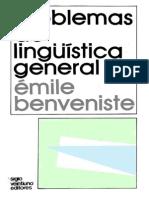 Problemas de Lingüística General II - Benveniste
