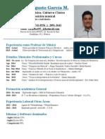 Currículum Ricardo García Mendoza