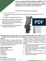 APL 1.2 - Energia Elétrica Forncida Por Um Painel Fotovoltaico