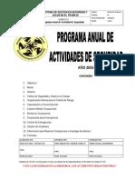 Programa Anual de Actividades de Seguridad (PAAS) 2015