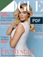 Vogue Magazine UK January 2013