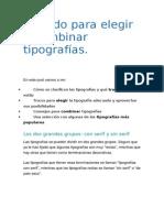 Método Para Elegir y Combinar Tipografías