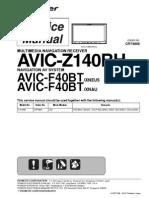 Pioneer Avic-f40bt Avic-z140bh Sm