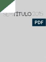 SEM TITULO 2015 - Catálogo