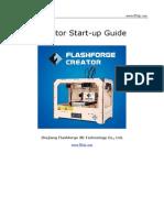 Flashforge Creator Start Guide
