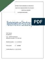 Matenimiento y Durabilidad de Las Estructuras