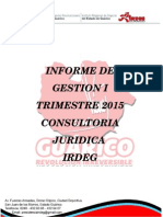 Informe de Gestion i Trimestre Osman
