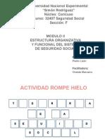 Estructura Organizativa y Funcional del Sistema de Seguridad Social