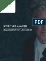 David Lynch MA in Film