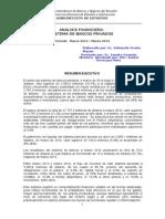 Analisis Financiero de Bancos Privados Año 2013 y 2014