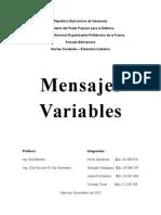 Mensajes Variables