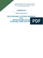 Cronograma de Las Actividades de Derecho Administrativo (1)