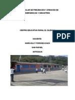 Plan de Documento Basico de Atencion y Prevencion de Desastres