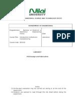 Engineering Lab Sheet Format