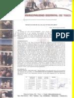 Resolucion de La Municipalidad de Tisco